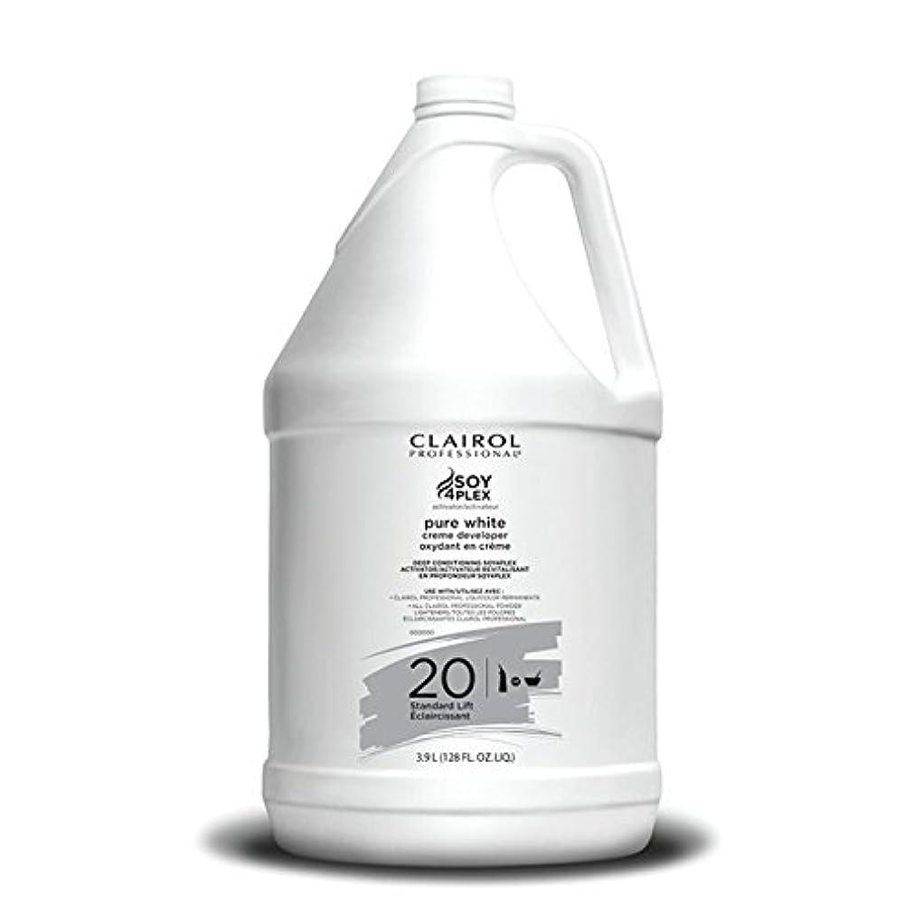 促進する拘束抗議Clairol Professional Soy4plex Pure White Creme Hair Color Developer, 20 Volume