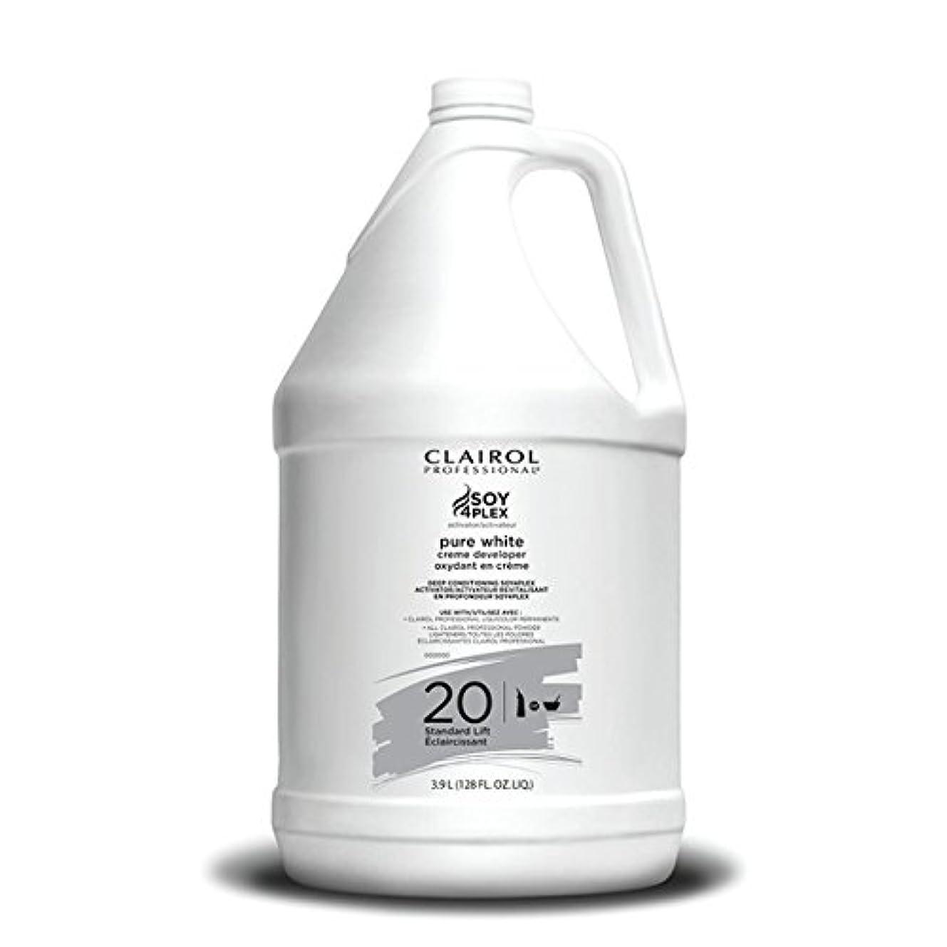 谷荒らす見えるClairol Professional Soy4plex Pure White Creme Hair Color Developer, 20 Volume