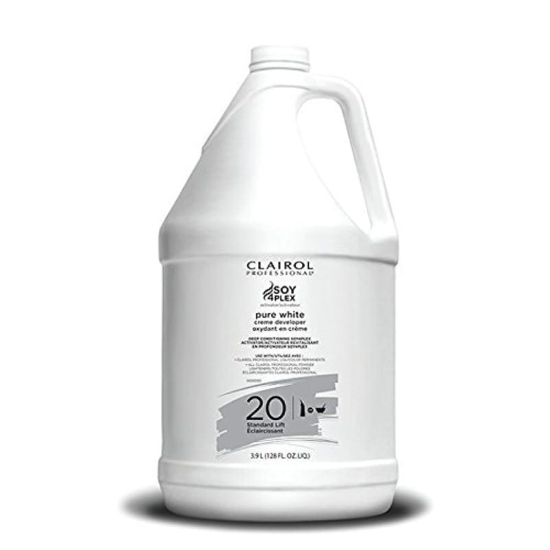 トレイル願望要塞Clairol Professional Soy4plex Pure White Creme Hair Color Developer, 20 Volume