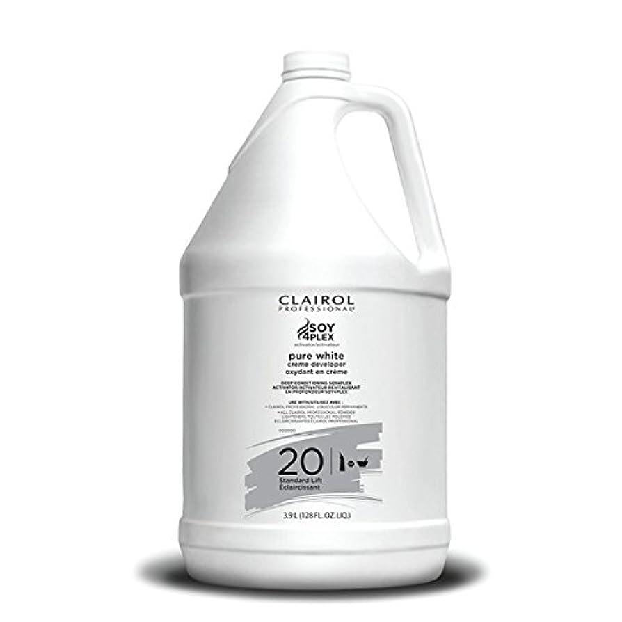 接続詞徹底的に適応的Clairol Professional Soy4plex Pure White Creme Hair Color Developer, 20 Volume