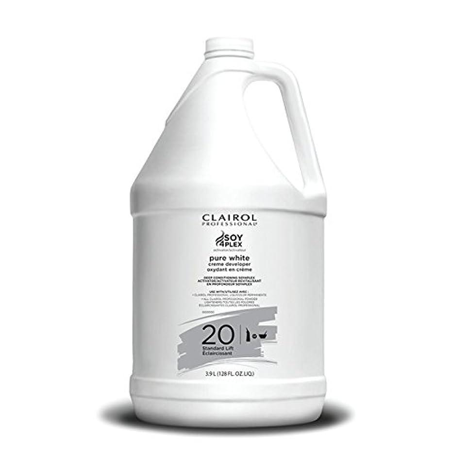 失敗ハードリング喜びClairol Professional Soy4plex Pure White Creme Hair Color Developer, 20 Volume
