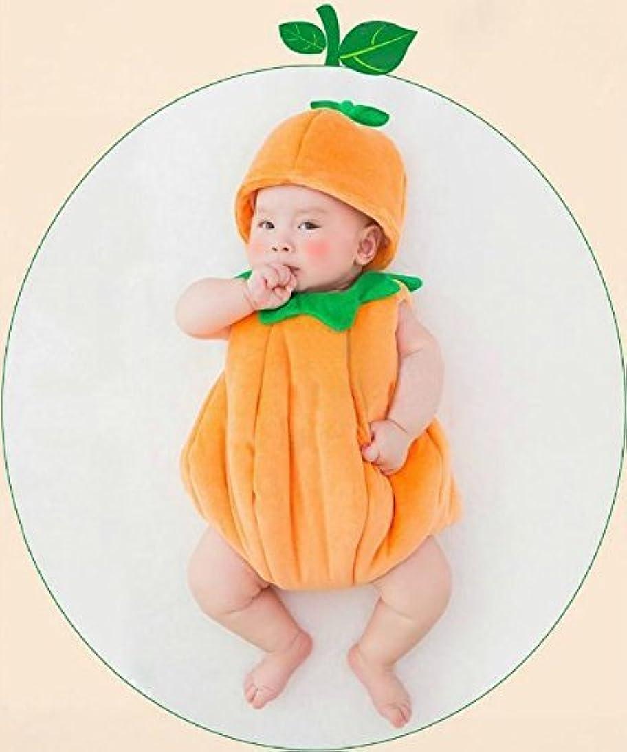 州対立ストリーム【Abz company】 かぼちゃ もこもこ あったか おくるみ 超かわいい ロンパース 新生児 男女共用 0か月~6か月 カバーオール 幼児 出産祝い ハロウィン コスチューム クリスマス セット かぼちゃ