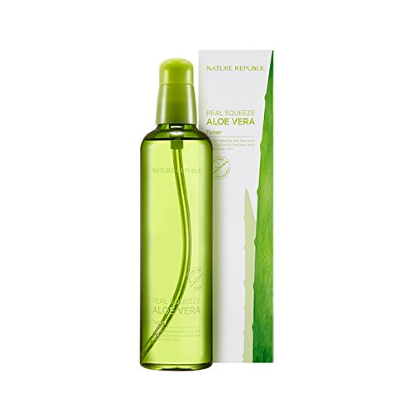 有力者メーター民間[ネイチャーリパブリック] Nature Republic リアルスクイーズアロエベラエマルジョントナー Real Squeeze Aloe Vera Emulsion Toner (Toner) [並行輸入品]