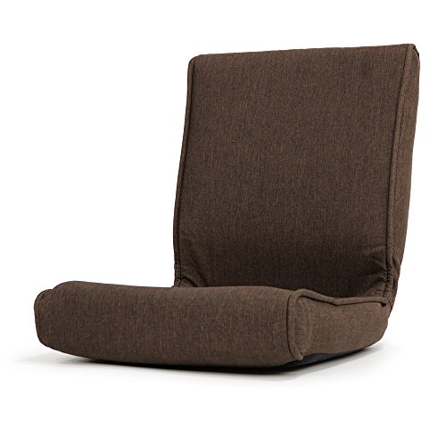 座椅子 コンパクト こたつ 椅子 フロアーチェア クローゼット 収納可能「秋月」 (折りたたみタイプ) (ブラウン色)