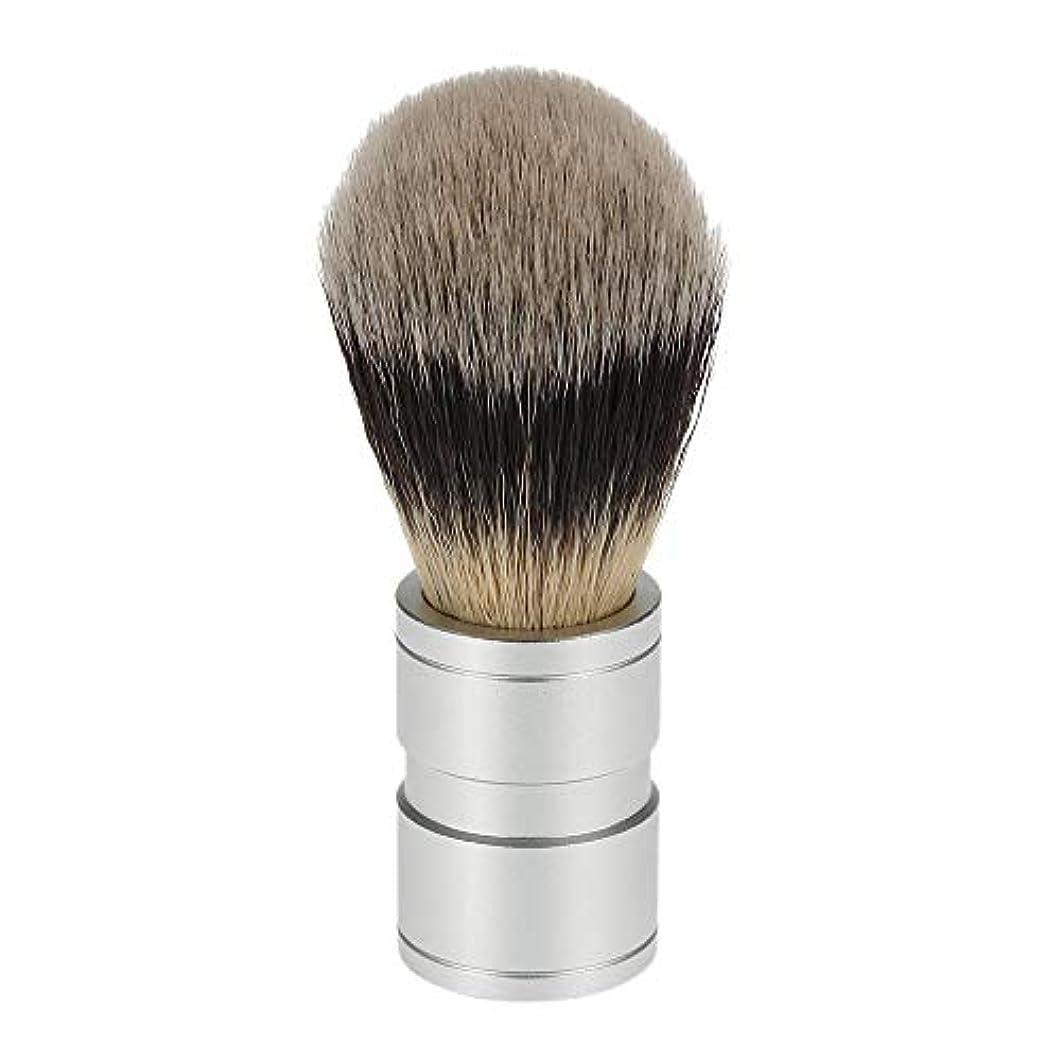 ひもとにかくカードACAMPTAR 1ピース 男性のヘアシェービングブラシ ステンレス金属ハンドル ソフト合成ナイロンヘア理髪ブラシ 快適な ひげ剃りツール