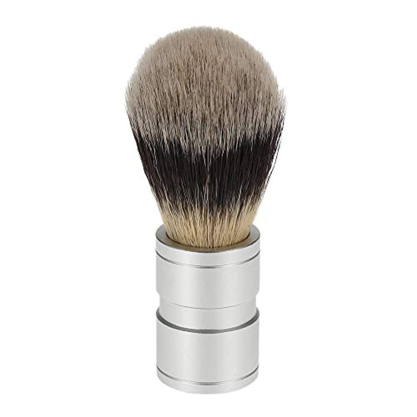 ディスコバースト枠ACAMPTAR 1ピース 男性のヘアシェービングブラシ ステンレス金属ハンドル ソフト合成ナイロンヘア理髪ブラシ 快適な ひげ剃りツール