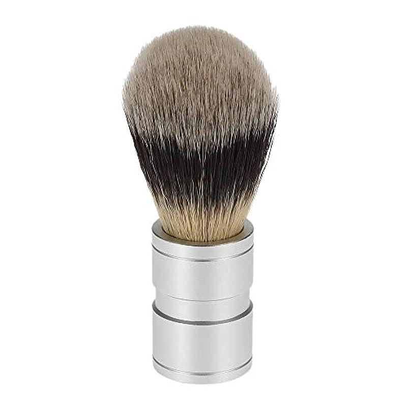 ヘビーノミネート文明ACAMPTAR 1ピース 男性のヘアシェービングブラシ ステンレス金属ハンドル ソフト合成ナイロンヘア理髪ブラシ 快適な ひげ剃りツール