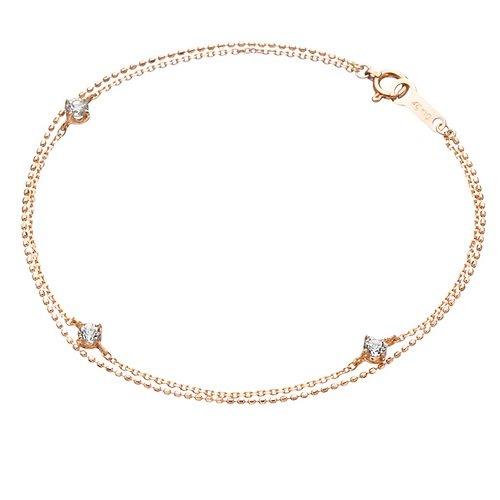[해외]4 ℃ (욘도시) 토파즈 K10 핑크 골드 (PG) 팔찌 110816133103/4 ℃ (Young dsi) topaz K10 pink gold (PG) bracelet 110816133103