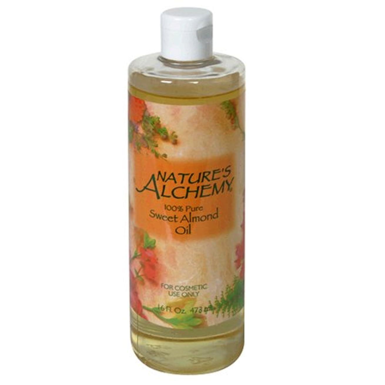 流体愚か欲求不満Nature's Alchemy Carrier Oil Sweet Almond 16oz