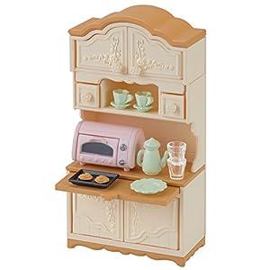 シルバニアファミリー 家具 食器棚・トースターセット
