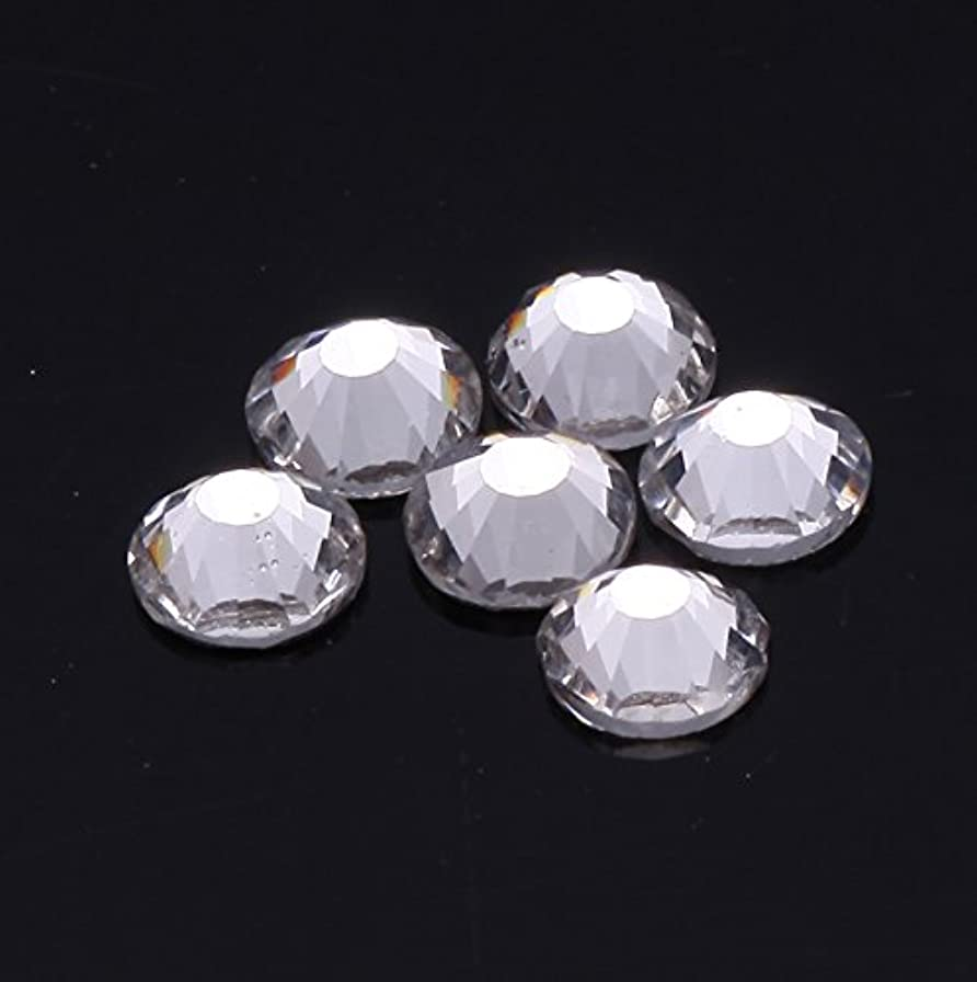 分析する縮約ビート1440粒ガラス製ラインストーン ネイル デコパーツ クリスタル (2.0mm (SS6) 約1440粒)