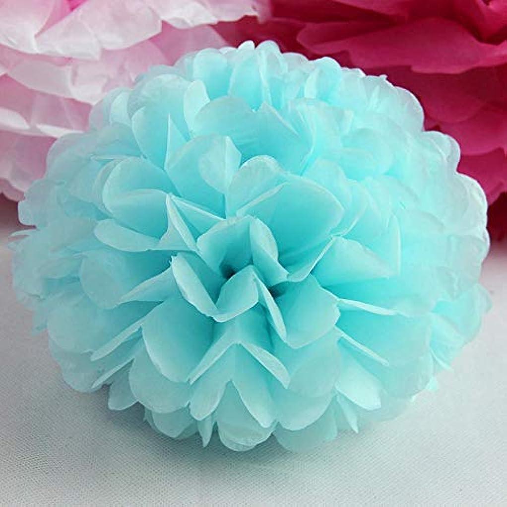 紳士ピーブ乳白色Annacboy 1ピースポンポンティッシュペーパーポンポンPOMSフラワーボールウェディングルームの装飾ベビーシャワーBithdayパーティーのためにDIYペーパークラフト用品 (Color : Water Blue, Size : 6inch 15cm)