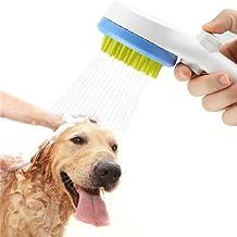 Rimposky Pet Bathing Tool- Dog Shower Sprayer & Scrubber in-One, Shower Bath Tub & Outdoor Garden Hose Compatible, Dog Cat Horse Grooming Kit Bath Brush