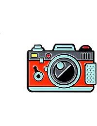 Niome Cartoon Brooch Pin Alloy Camera Lapel Pin Badges for Denim Clothing Bag Jackets Hat DIY