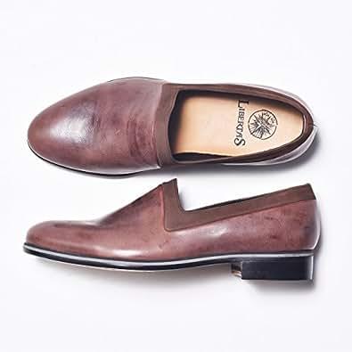 [リベルタス] スリッポン ビジネスシューズ 革靴 メンズ 本革 靴 日本製 LIB17-1L3T02 ブラウン 26.5cm