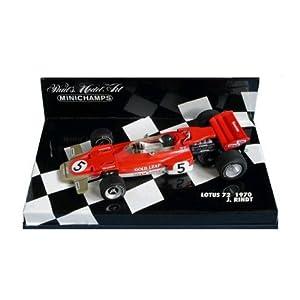 PLANEX ミニチャンプス製 ロータス72 1/43スケールモデル driven by J.リント (Minichamps Scale Models 1:43 Lotus 72 J.Rindt) LOT-SM-MC72R