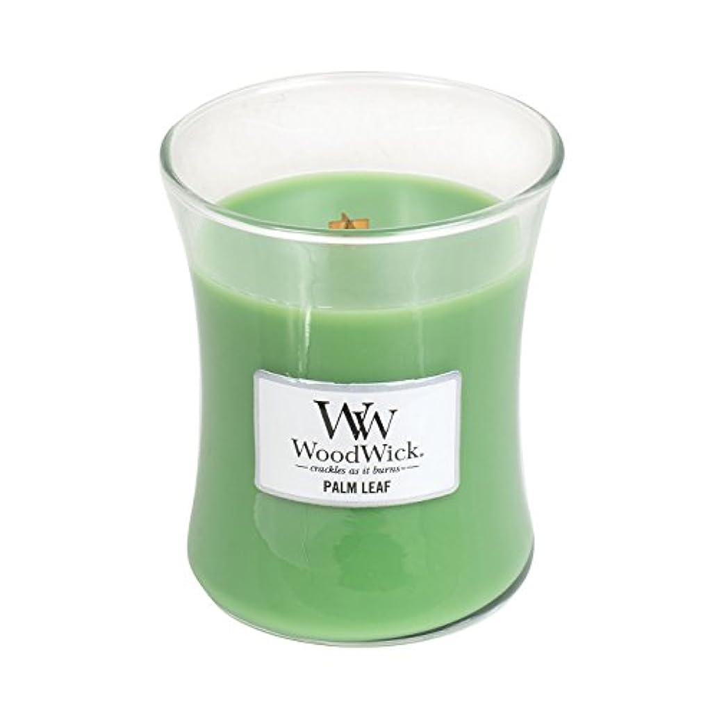 カスケード特別な邪悪なWoodwick Palm Leaf , Highly Scented Candle、クラシック砂時計Jar、Medium 4インチ、9.7 Oz