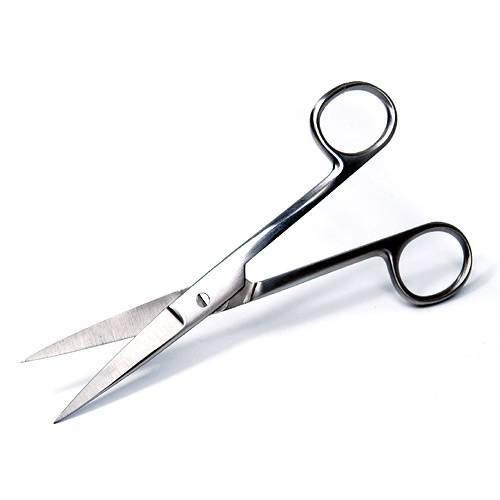両鋭 ステンレス製ハサミ 剪刀 ストレートタイプ(全長 16.5cm) 水草 トリミング 剪定