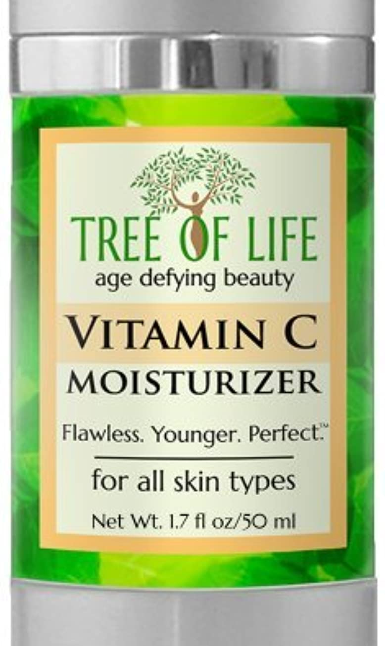 甘やかすスローオーバーフローTree of Life Beauty ビタミン C モイスチャライザー クリーム 顔 肌 用