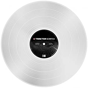 Native Instruments DJアクセサリー TRAKTOR Scratch Control Vinyl MK2 Clear