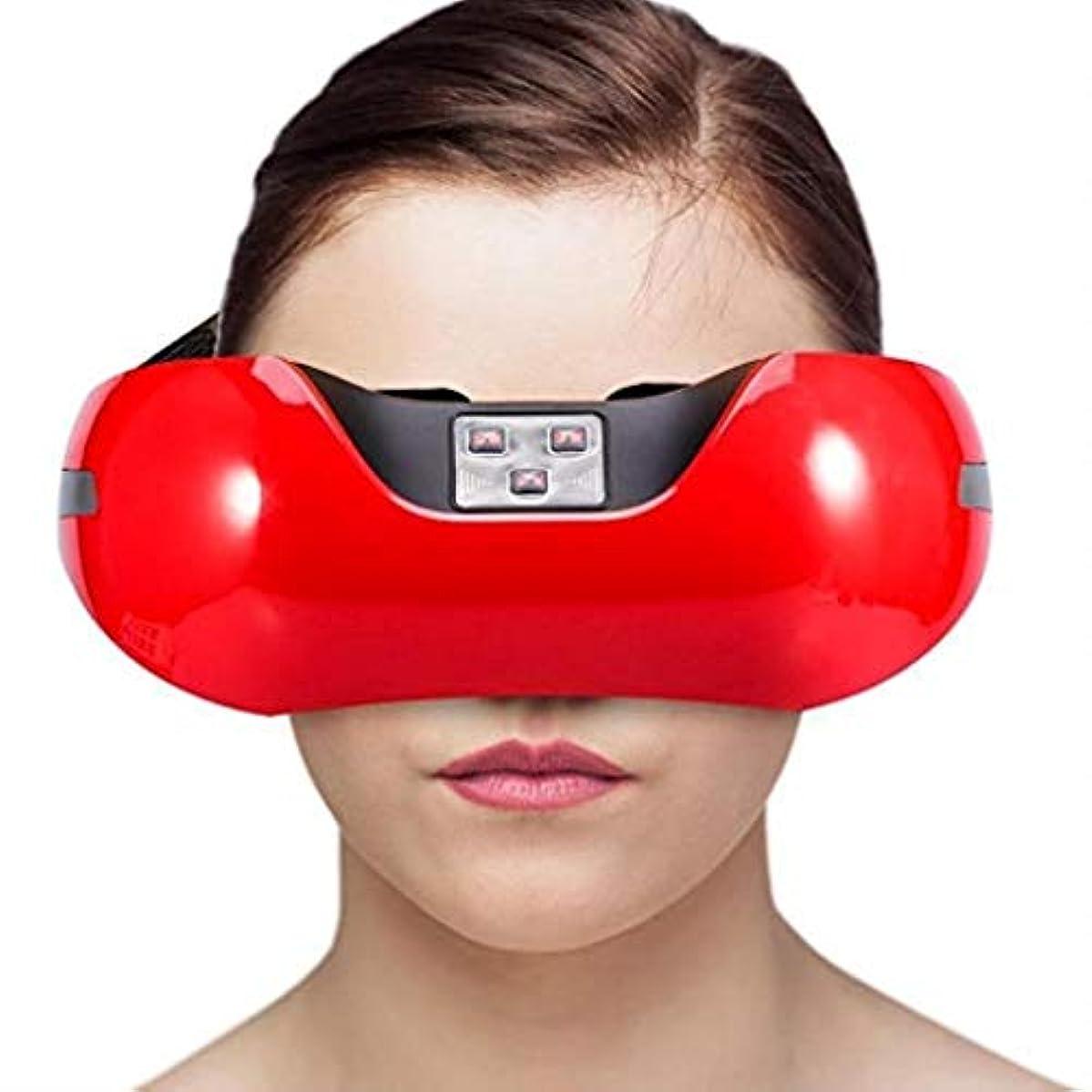 除外する凍る枝近視の予防のための視力回復器具トレーニングアイマッサージ器具 (Color : Red)