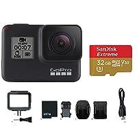 GoPro HERO7 BLACK ウェアラブルカメラ本体+Sandisk 32GB推奨microSDカード付きセット