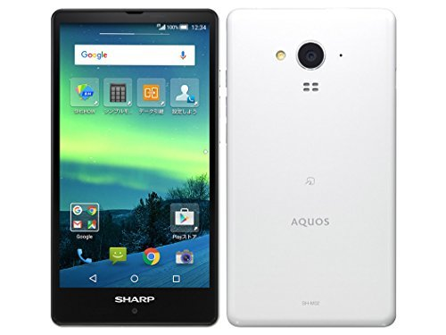 SHARP シャープ AQUOS SIMフリースマートフォン ホワイト SH-M02