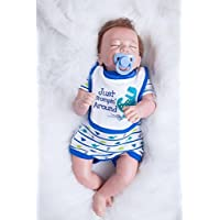 Alive Sleeping赤ちゃん少年Reborn 20インチリアルな新生児赤ちゃん人形シリコン布ボディ人形おもちゃキッズ誕生日クリスマスギフト