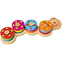 LeglerピンおもちゃCaterpillar Preschool Learning Toy by小さな足ベビー