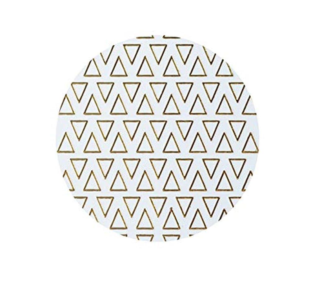 医学役に立たない辞書ゴールドフレームシェイプアップリケ金メッキ金属三角形オーバルネイルアートステッカーステッカー,T-8 small size trian