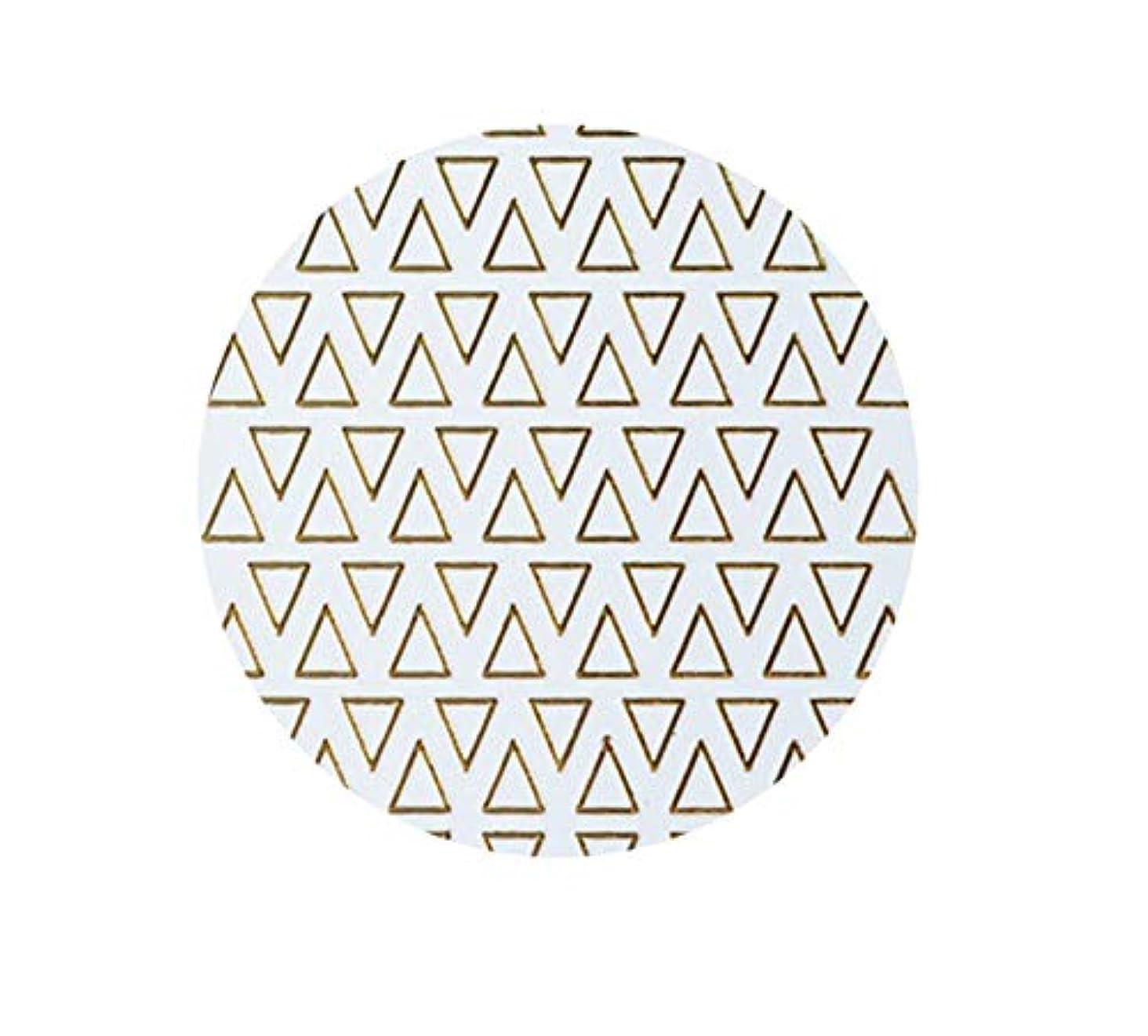 側独創的動物ゴールドフレームシェイプアップリケ金メッキ金属三角形オーバルネイルアートステッカーステッカー,T-8 small size trian
