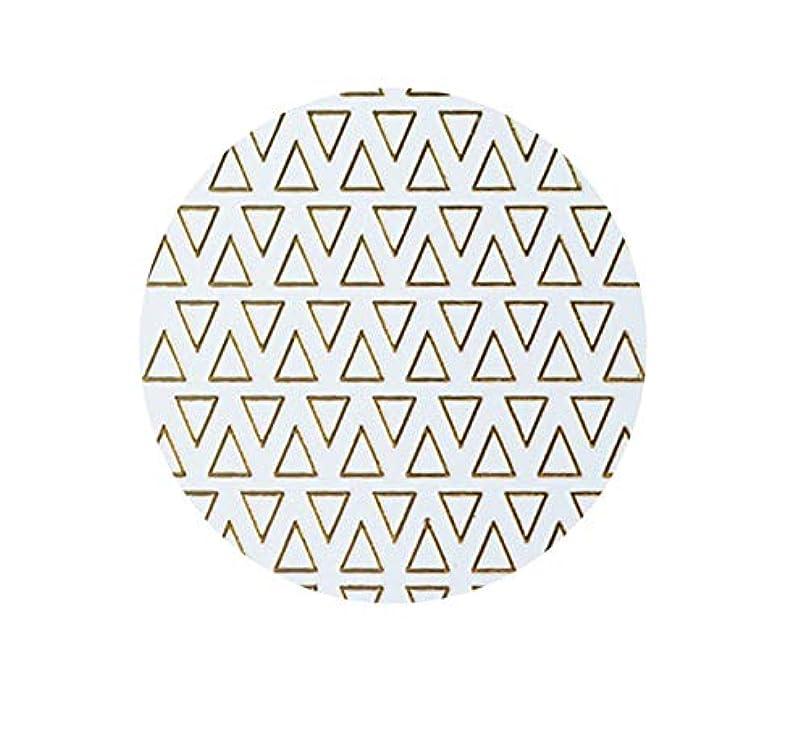 複合嫌がらせ刺しますゴールドフレームシェイプアップリケ金メッキ金属三角形オーバルネイルアートステッカーステッカー,T-8 small size trian