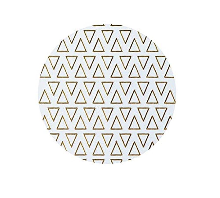 頭痛不十分不測の事態ゴールドフレームシェイプアップリケ金メッキ金属三角形オーバルネイルアートステッカーステッカー,T-8 small size trian