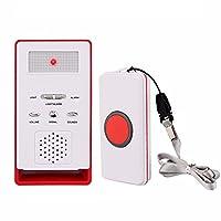 Fairmall ワイヤレス呼出し機セット 家庭用 ナースコール ブザー ワイヤレスチャイム 無線在宅介護警報システム ポケット ベル 遠隔呼び出しアラーム 高齢患者、妊婦、障害のある子供向け