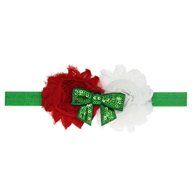 Zhhlaixing ベビー小物 Christmas Girl Headband Infant Headdress Handmade Sequins Bowknot Hairband Hair Accessories