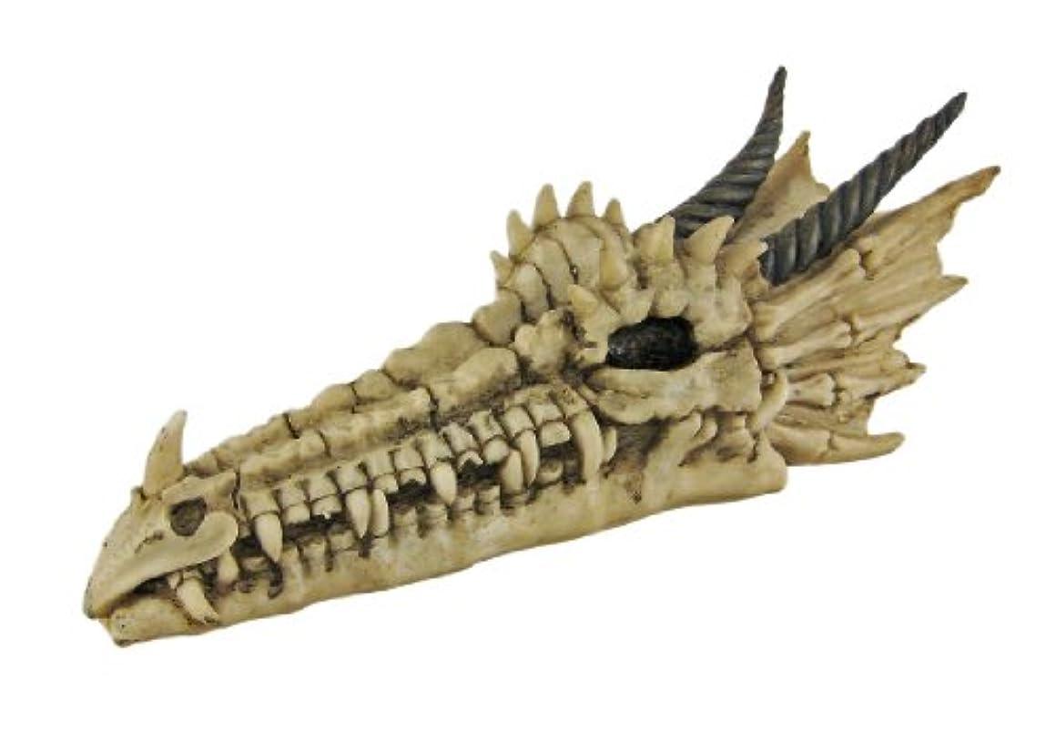 反響する投獄平らなCool Dragon Skull Stick Incense Burner