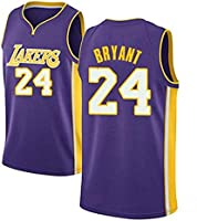 kuomai Los Angeles Lakers Kobe Bryant #24 Basketball Summer Short-Sleeved Crew Neck. Classic Series has Been...