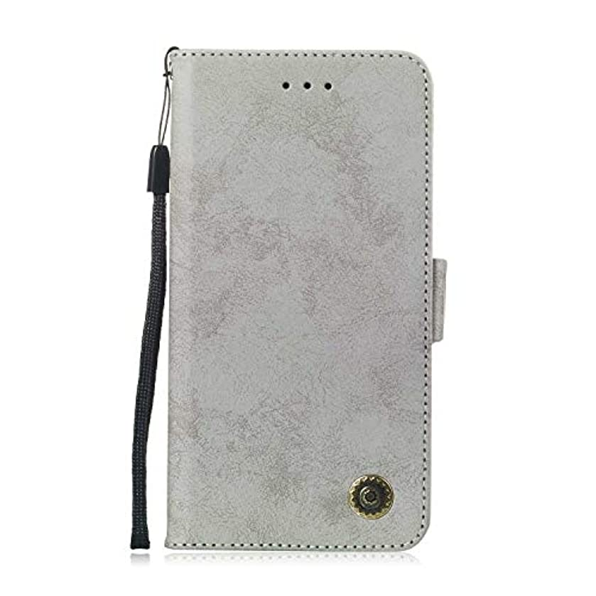 何もないほめるヤギZeebox® Huawei Mate 20 Lite 手帳型ケース Huawei Mate 20 Lite 手帳型カバー 財布型 合皮PUレザー マグネット式 保護ケース カード収納 スタンド 機能 (グレー #5)