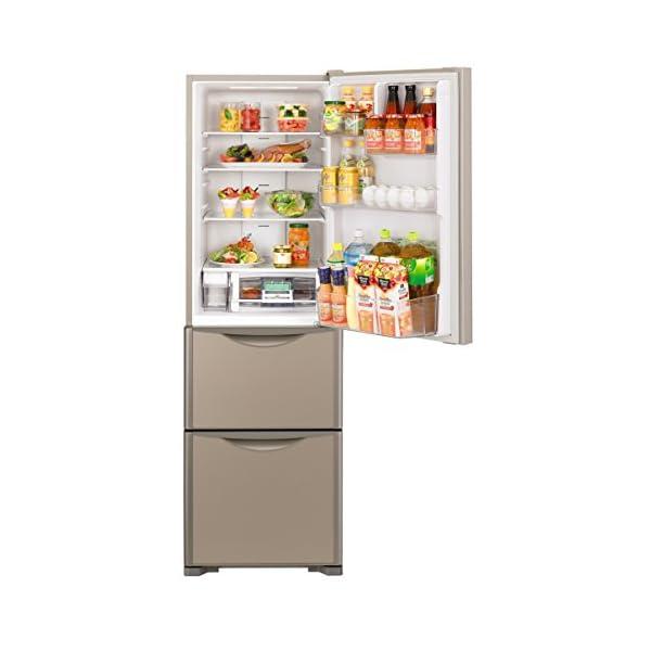 日立 冷蔵庫 315L 3ドア クリスタルシャ...の紹介画像2