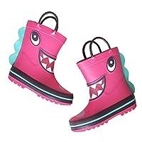FRF レインブーツ- 子供の漫画屋外防水ピンクレインブーツ、学生は滑り止めラバーレインブーツ (色 : ピンク, サイズ さいず : 28 yards)