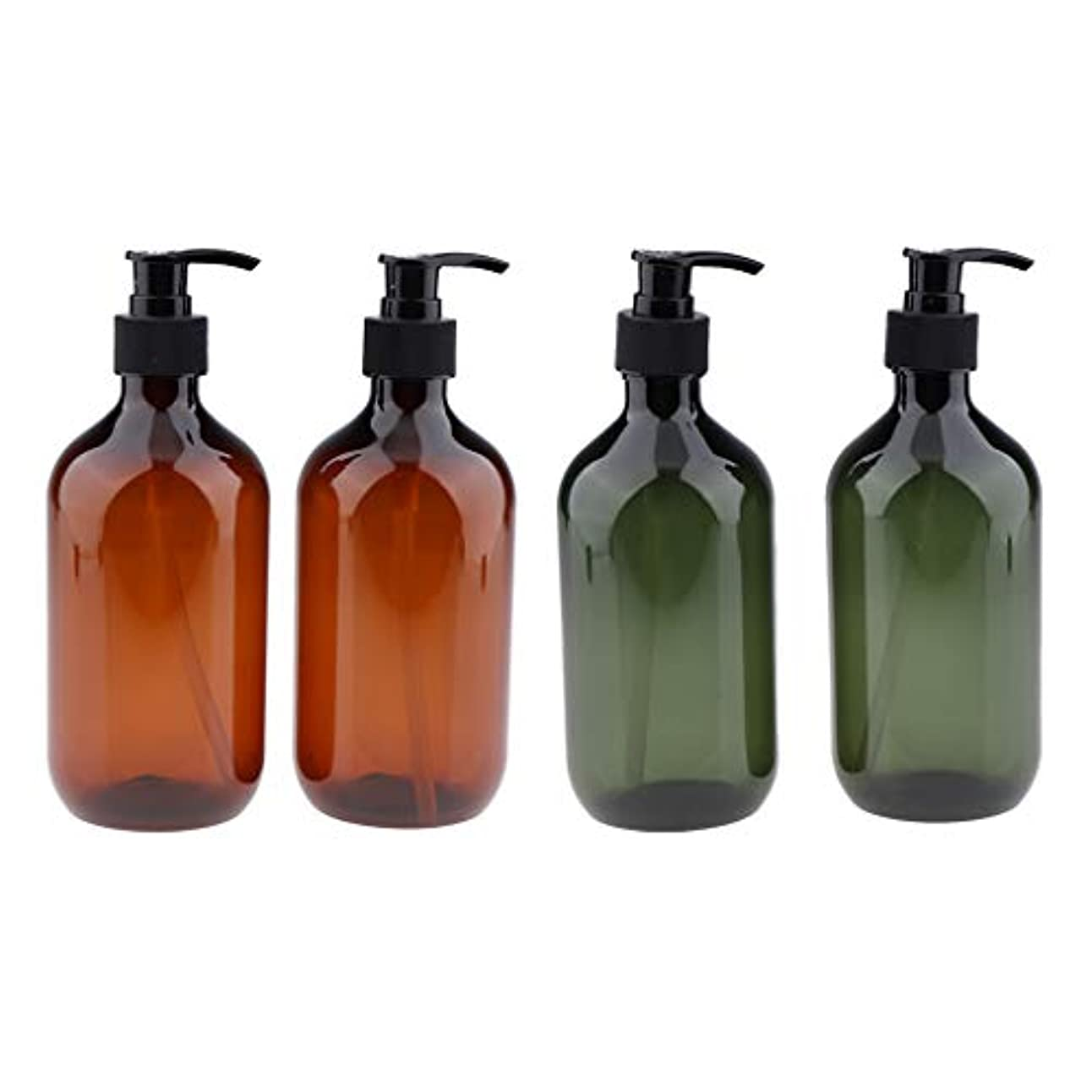 肺炎愛する階gazechimp シャンプーボトル ポンプボトル 大容量 500ml 漏れ防止 空のペットボトル サロ 4本
