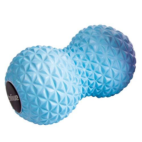 ヨガフォームローラー 筋筋膜の解放 引き金ポイント及び深いティッシュのローラーのためのピーナッツフィートのマッサージャー - 痛む筋肉 背部 首 圧力ポイント自己苦痛救助のためのしっかりしたEVAを形づけなさい (Blue)