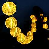Idealeben 提灯ライト 祭り用ちょうちん 2.2m 20球 ストリングライト 燈籠装飾LEDライト パーティー・イベント・クリスマスに装飾用 正月飾り 電飾 電球色