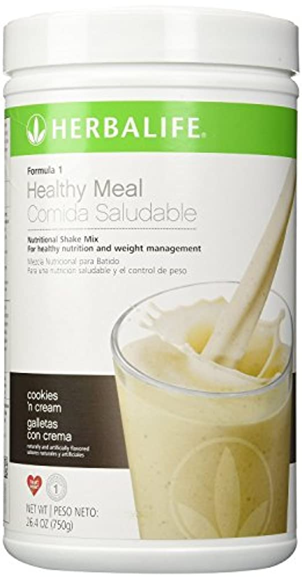 言い直す後方歯車Herbalife  フォーミュラ1栄養シェークミックス(クッキーとクリーム、750g)