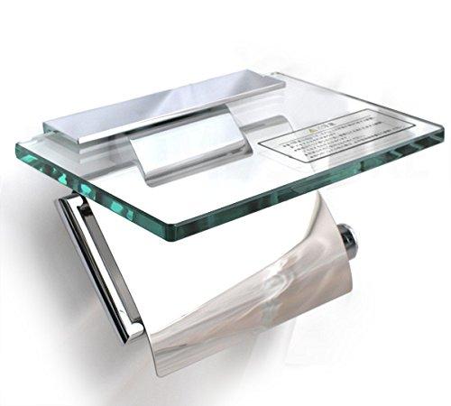 RoomClip商品情報 - KAWAJUN カワジュン ペーパーホルダー(紙巻器) ガラス棚付ペーパーホルダー SC-273-XC