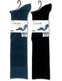 SLIM LINE men's(スリムラインメンズ) 紳士靴下 透ける綿混 ハイソックス