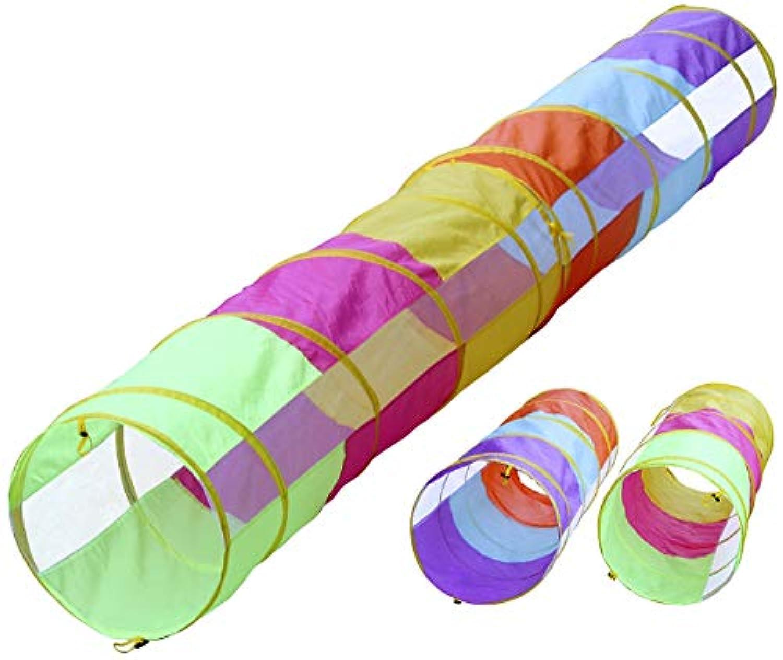 12 ftトンネル/ 6 ftトンネル2パック、子供peek-a-boo再生トンネル、インドア&アウトドアPop Up子クロールトンネルおもちゃチューブ、猫犬機敏性トンネル、トンネル、by hide-n-side