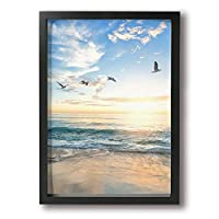 Ocean Ocean Wall Art Paintings Stretched Canvas Framed For Home Decorations Wall Decor 9x13Inch