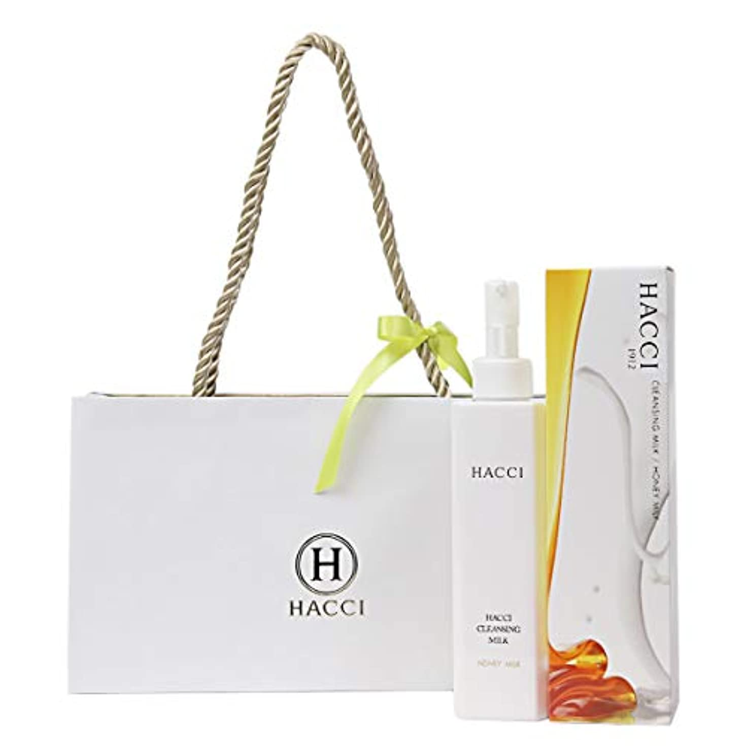 ヨーグルト承認法医学[セット品] ギフト仕様紙袋付き HACCI ハッチ 1912 クレンジングミルク 80g