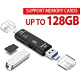 USB OTG USB C Card Reader, TERSELY 5IN1 OTG to USB Memory SD Card Adapter Type-C, Micro USB for Micro SDXC, Micro SD, Micro SDHC, Mouse, Keyboard, U Flash for MacBook PC Tablets Smartphones with OTG